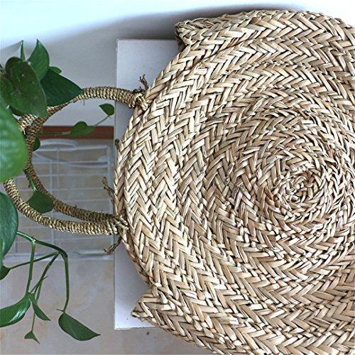 Bolso Natural Holiday De Bolso Paja brown A Rity De Grande Bag Beach Grande De Tejido Straw Bolso Hombro Brown Mano Damas Mujeres Bolso YnqCavW