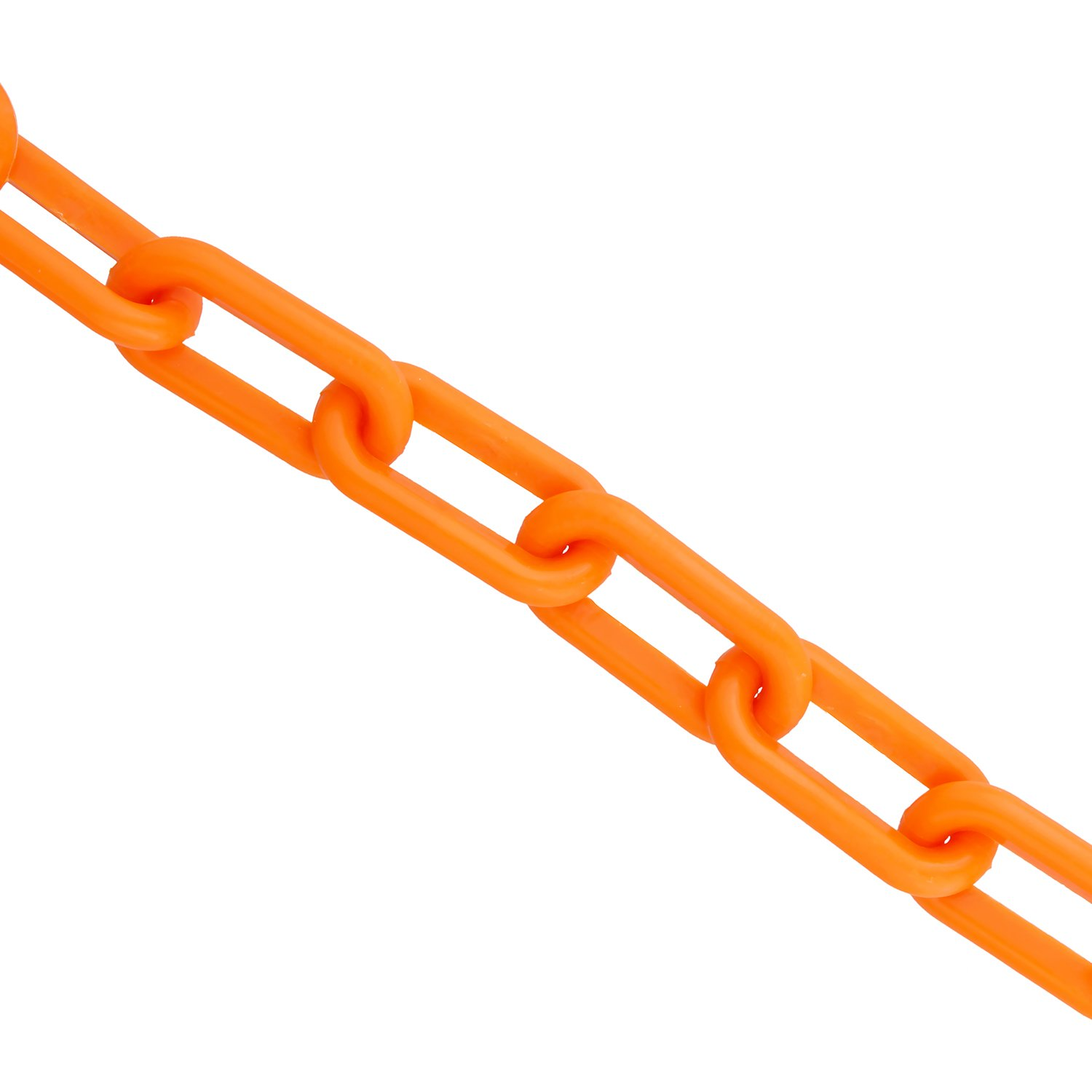 Bob's | Plastic Chain Links in Orange – 125' Feet Long – Orange Chain for Crowd Control, Halloween Chains, Prop Chains