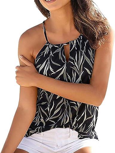Camiseta de Lentejuela Casual de Mujer, Camisa de Verano sin Mangas Camisola Tops Verano Blusa Mujer Sport Tops Mujer Verano Camisetas Mujer Fiesta Elegante Camisetas Encaje Mujer: Amazon.es: Ropa y accesorios