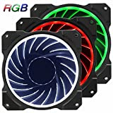 Jonsbo FR-131 120mm RGB LED Color Changeable Speed Controllable Quiet Hydraulic Bearing 6 pin SATA High Airflow Computer Case Fan For Computer Case CPU Coolers and Radiators-3 Pack