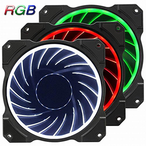 Jonsbo FR-131 120mm RGB LED Color Changeable Speed Controllable Quiet Hydraulic Bearing 6 pin SATA High Airflow Computer Case Fan For Computer Case CPU Coolers and Radiators-3 Pack by Jonsbo