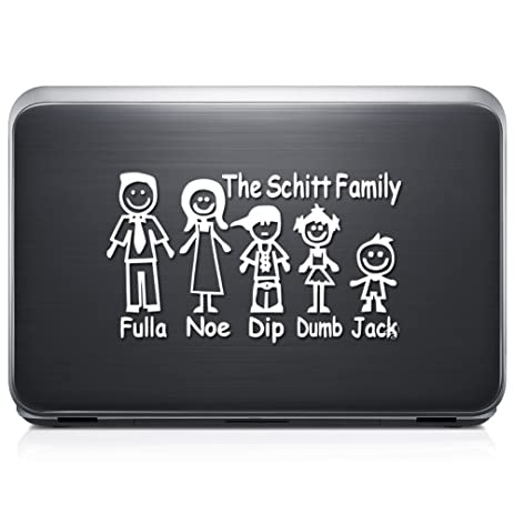 Amazoncom The Schitt Family Stick Figure Funny REMOVABLE Vinyl - Family decal stickers for carsamazoncom stick family stick family car window wall laptop decal