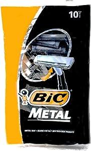 Bic Metal Disposable Men's Shaving Razors, 10-Count x 5 Packs