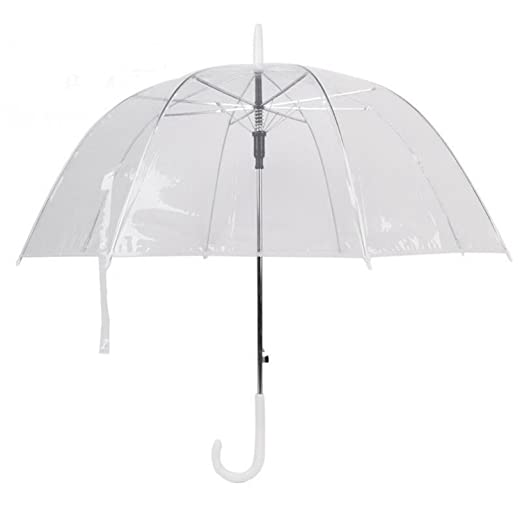 Amazon.com : Madehappy Plastic EVA Transparent Leaves Cage Sunny Umbrella Rain Umbrella Parasol Women Semi-Automatic Umbrellas Clear Paraguas : Sports & ...
