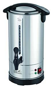 40 Cup Stainless Steel Double Wall Insulated Hot Water Urn - Water Boiler with Holiday (Yomtov) Switch and Cover Child Lock
