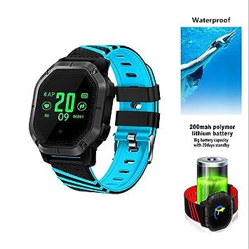 HIXGB Pulsera Actividad,Reloj Inteligente con Impermeable,Monitor De Frecuencia Cardíaca,Podómetro,Rastreador De Sueño del,para Niños,Mujeres Y Hombres ...