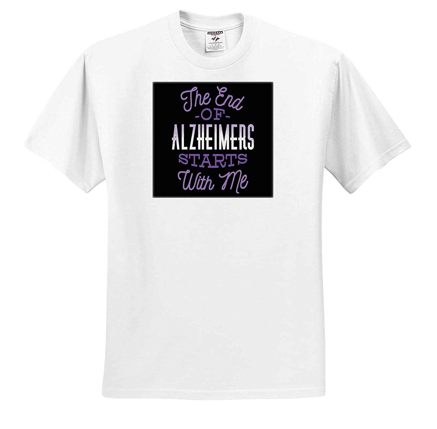 The End of Alzheimers Start with Me Dementia Brain Adult T-Shirt XL 3dRose Sven Herkenrath Healthy ts/_319686