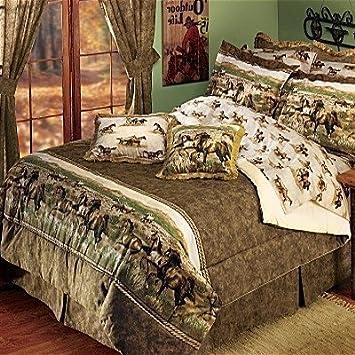 Running Horse Western Bedding Comforter Set Southwestern Ranch