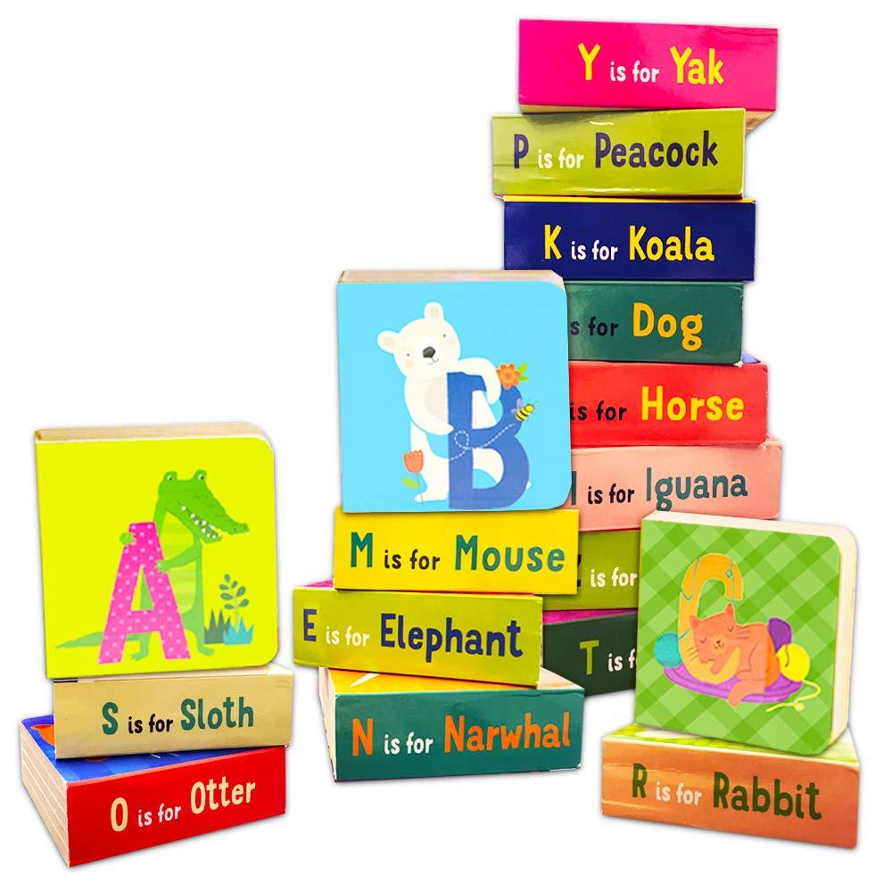 Amazon.com: Animal ABC Junta Libros Juego de niños bebés ...