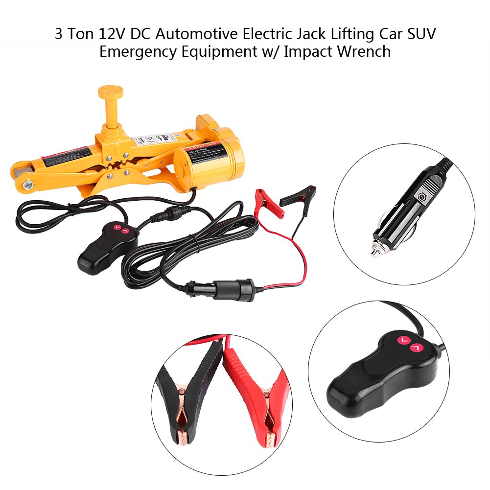 Dc 12v 2 Ton Electric Lifting Jack Automotive Automatic Garage With Emergency Equipment Tools+controller Handle Clamp For Car Modern Design Back To Search Resultstools