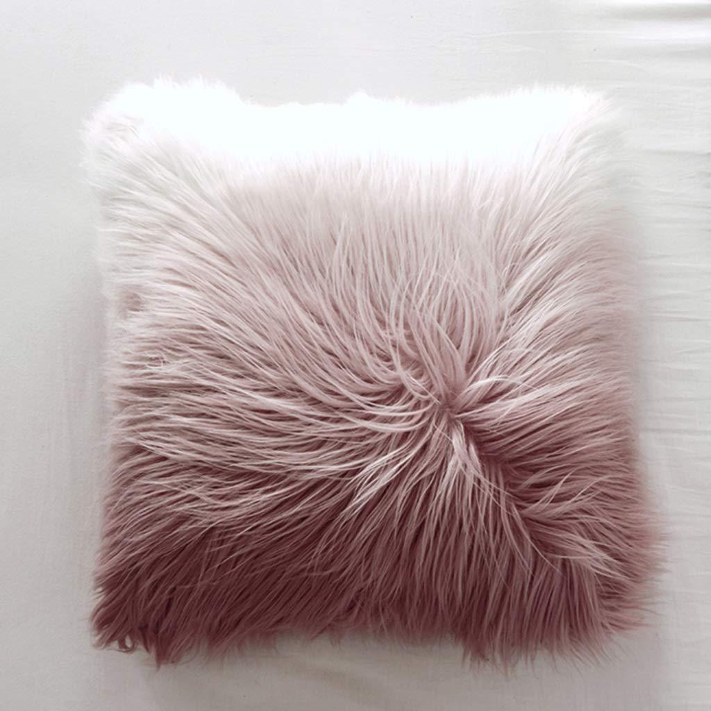 ZDNALS Gradient Pillow Cushion, Plush Home Decoration Sofa Cushion 50cm × 50cm Pillow (Color : A) by ZDNALS
