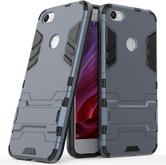 Funda para Xiaomi Redmi Note 5A / Redmi Note5A Prime (5,5 Pulgadas) 2 en 1 Híbrida Rugged Armor Case Choque Absorción Protección Dual Layer Bumper Carcasa con Pata de Cabra (Azul Negro): Amazon.es: Hogar