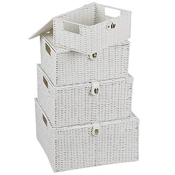 Yaheetech 4er Set Aufbewahrungskörbe aus Kunststoff ...