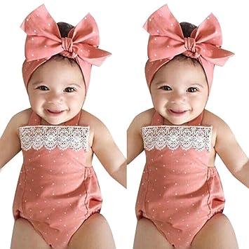ddfdbeb774dd Amazon.com  Baby Girls Romper