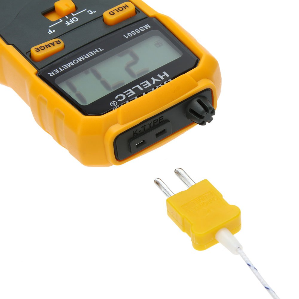 Portable HYELEC MS6501 High Accuracy Termostato Digital Thermometer K Type Thermocouple Termometro With Data Hold/Logging: Amazon.com: Industrial & ...
