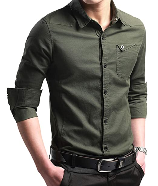 Amazon.com: XTAPAN Camisa de algodón para hombre, estilo ...