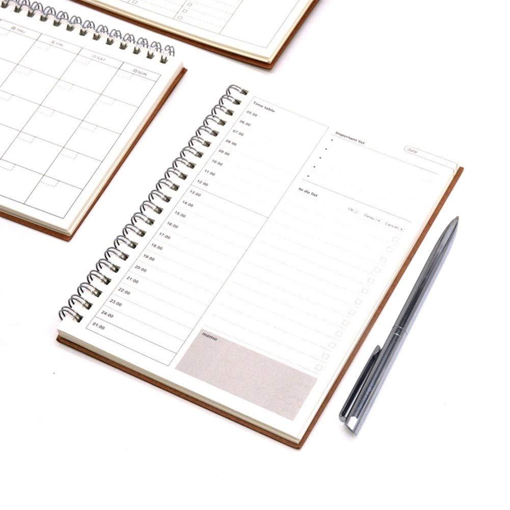 NO LOGO 1pc Diario semanal Planificador Notebook Caderno Agenda ...