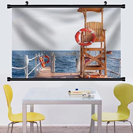 Amazon.com: Gzhihine Wall Scroll Life Guard Tower at the Eand of ...