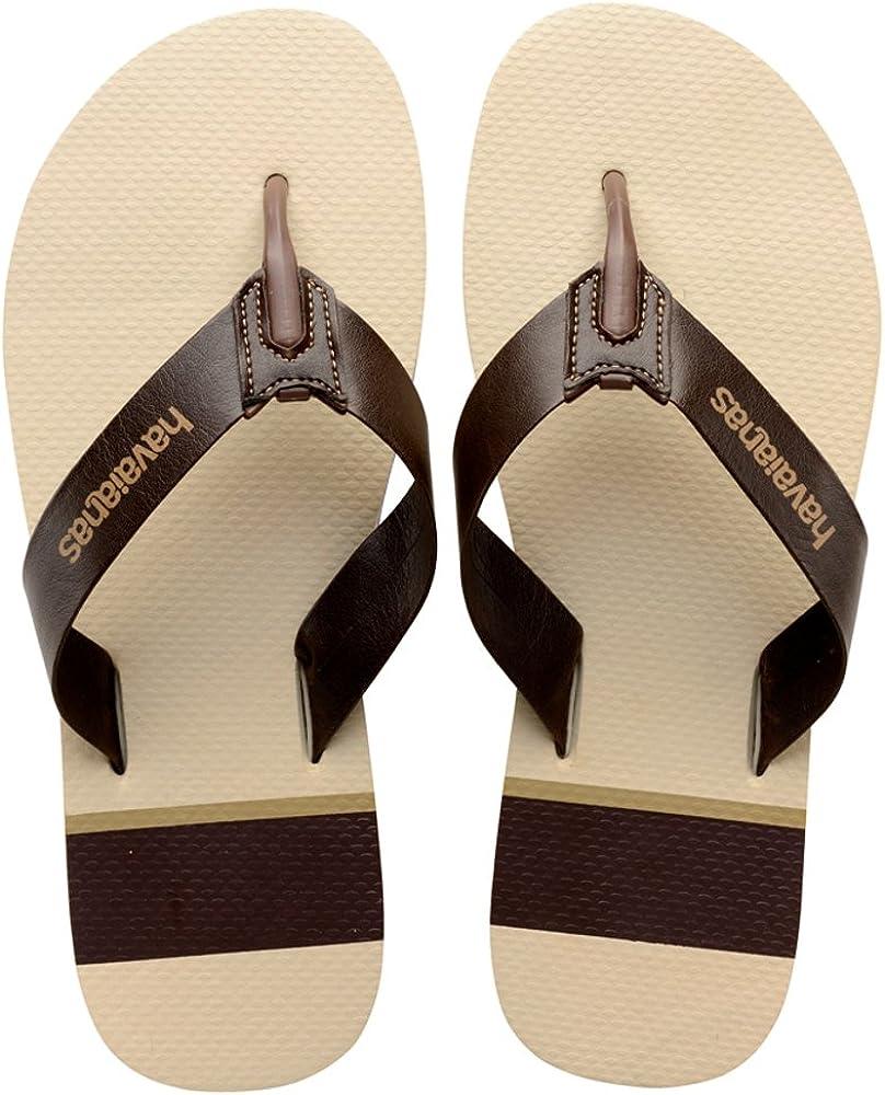 havaianas mens leather flip flops