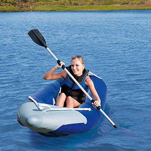 Water Wheeler 2-Man ASL Electric Pedal Boat with Canopy, Blue