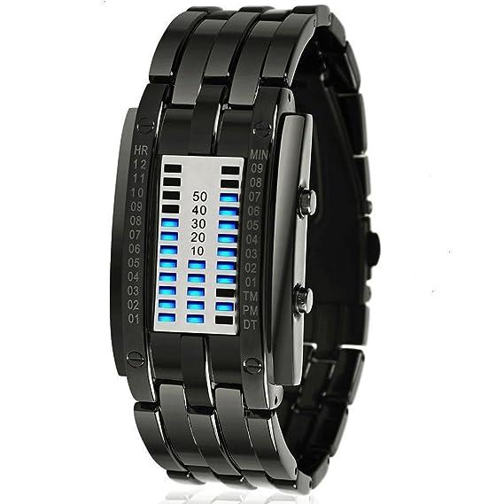 Skmei - Reloj digital y dial de plata con pantalla LED de colores informales para hombre - 0926L: Amazon.es: Relojes
