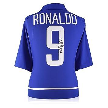 exclusivememorabilia.com 2002-04 Camiseta Brasil Away firmada por Ronaldo Luis Nazário de Lima