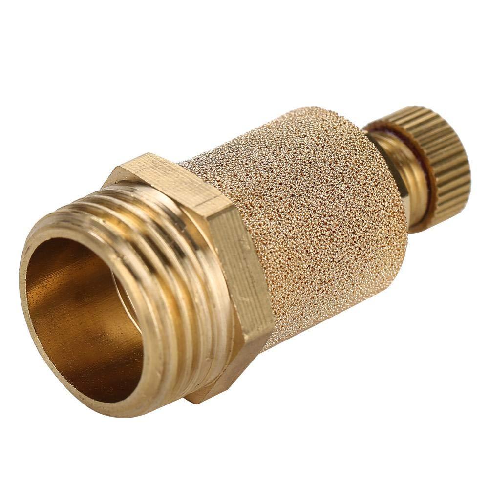 Pneumatic Muffler,Male Thread Brass Air Pneumatic Noise Reducer Filter Exhaust Silencer Connector G1//4, 4pcs