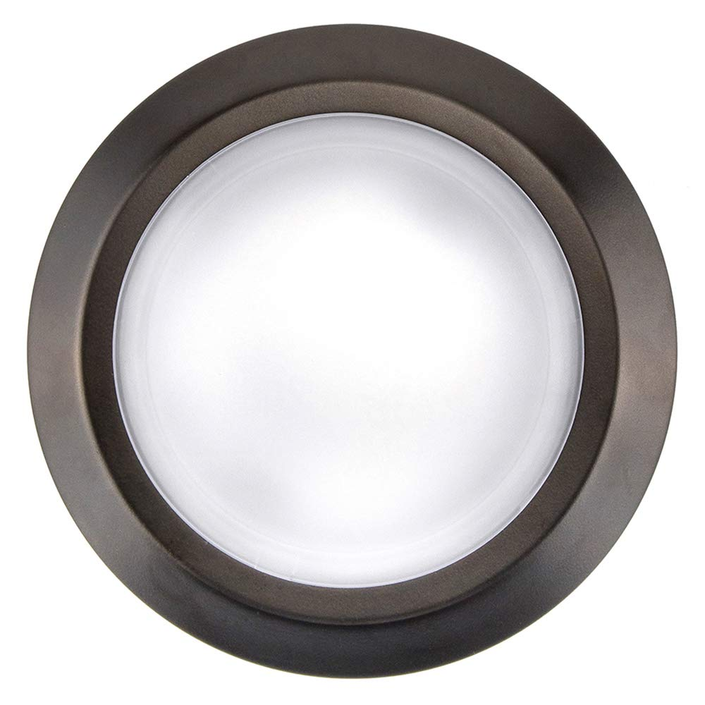 7.5'' Flush Mount Led Light Fixtures - Dimmable Low Profile Ceiling Light - Round - 15W (150W Replacement) Soft White 3000K, Bronze, 1 Pack