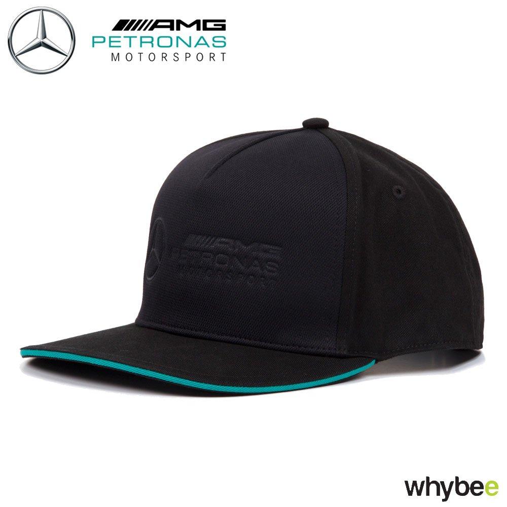 a4165592f0 2018 Mercedes-AMG F1 Formula 1 BLACK Logo Cap Petronas Motorsport Adult One  Size