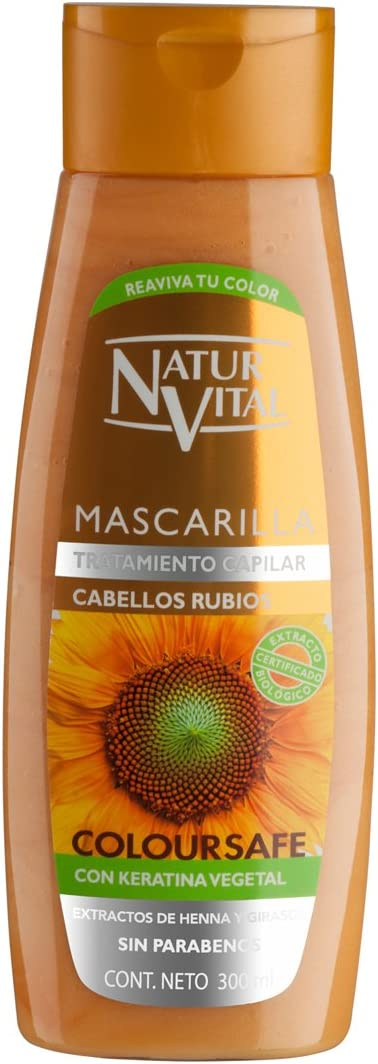 NATUR VITAL mascarilla capilar color cabellos rubios bote 300 ml