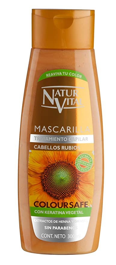 Natur Vital Mascarilla Color Cabellos Rubios - 300 ml