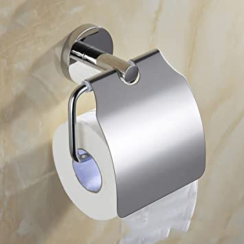 LSS Portarrollos de Papel higiénico Redondo con Toalla de Papel con luz para Hotel de Papel higiénico portarrollos de Acero Inoxidable 304: Amazon.es: Hogar