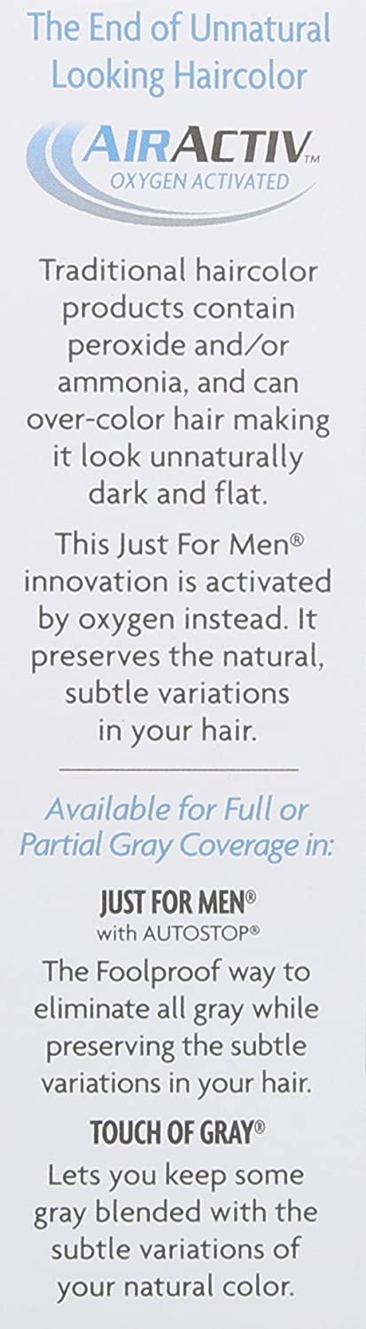 Just for Men Touch of Gray Mustache and Beard Color, Dark Brown & Black
