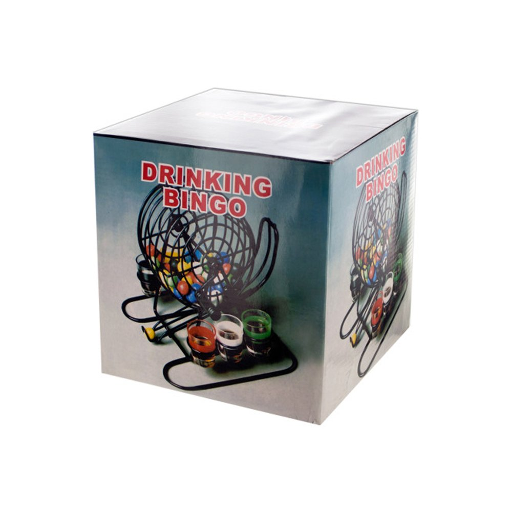 JT Party Supplies JT-PS-OD803 Drinking Game Bingo Drinking Game with Rotary Cage & Shot Glasses - 1 Pack by JT Party Supplies