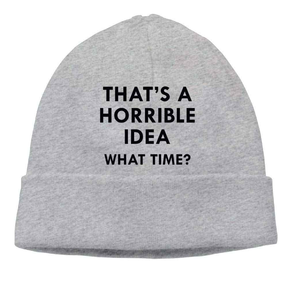 Skull Hat Beanie Knit Hats Mens Thats A Horrible Idea What Time Winter
