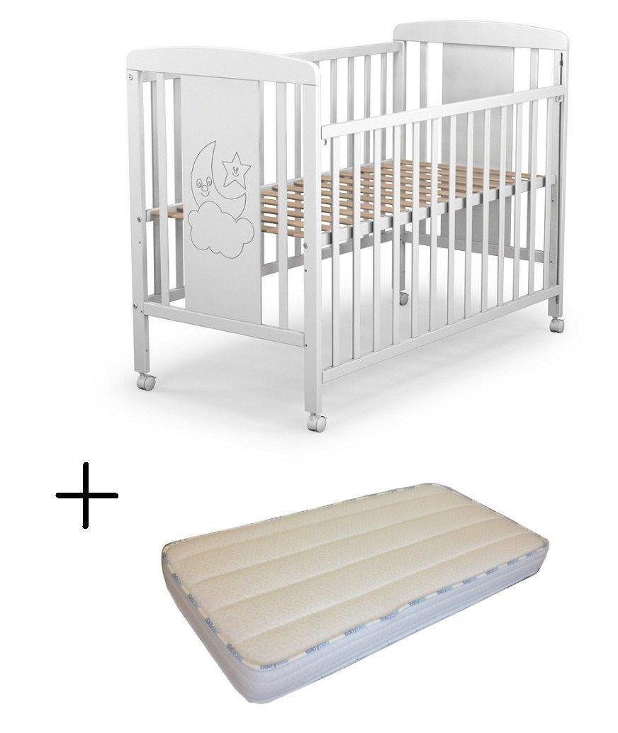 Cuna para bebé, modelo cielo Mundi Bebé + Colchón Viscoelástica + Protector de colchón…