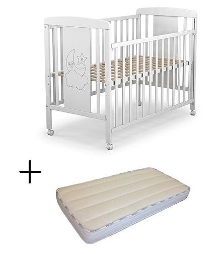 Cuna para bebé, modelo cielo Mundi Bebé + Colchón Viscoelástica + ...