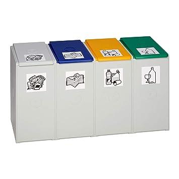 Und Sammelbehälter Var Wertstoff-trenn Für 60 L, Als 3-fach Sammelstation