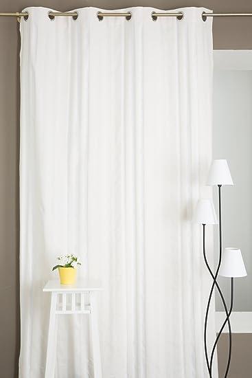 DecoBoutique Vorhang aus Poly-Baumwolle Ton in Ton Gestreift mit ...