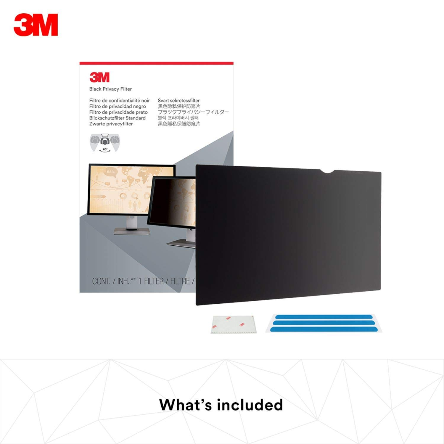 3M Privacy Filter for 34'' Widescreen Monitor (21:9) (PF340W2B) (Renewed) by 3M (Image #5)