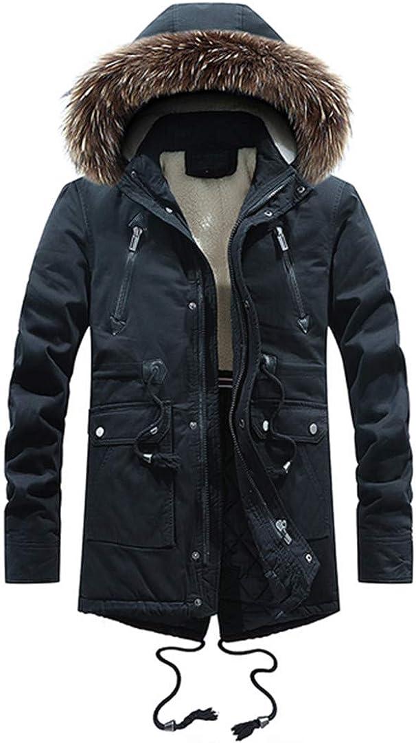 WEIYOUYO Chaqueta De Invierno para Hombre Abrigo De Terciopelo Lavado Engrosamiento Exterior De Cuero Militar Collar Suelto Chaquetas con Capucha