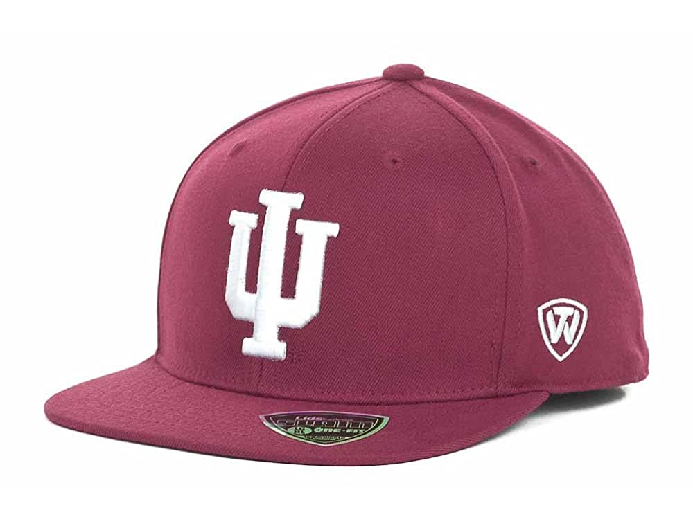 check out 091b2 3718a Indiana Hoosiers Men s Top of the World NCAA Slam One-Fit Flex Fit Hat Cap  at Amazon Men s Clothing store