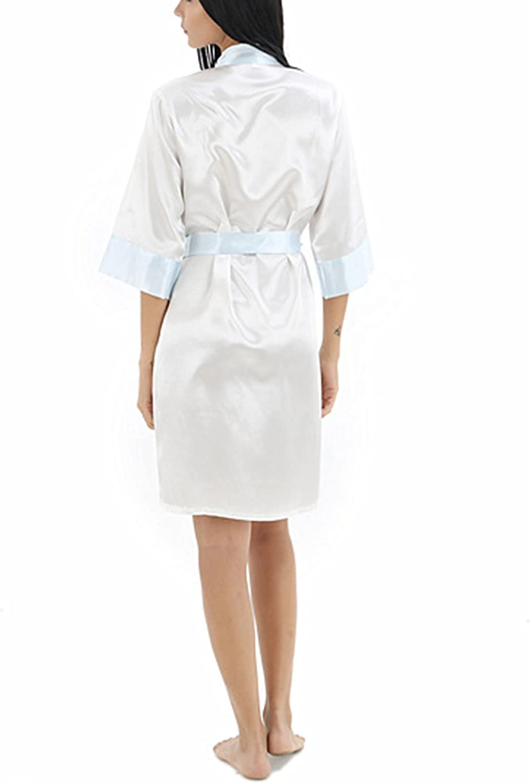 Bademantel f/ür M/änner Long Style Asskyus Leichtes Satin Sleep Robe Kimono-Kleid der M/änner