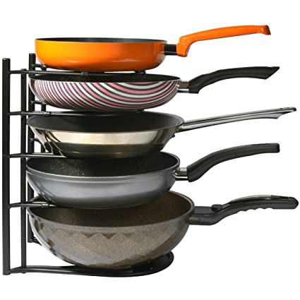 Racks & Holders Cheap Sale Pots Pan Metal Rack Kitchen Cabinet 5 Layer Shelf Cookware Organizer Lid Pantry Delicacies Loved By All