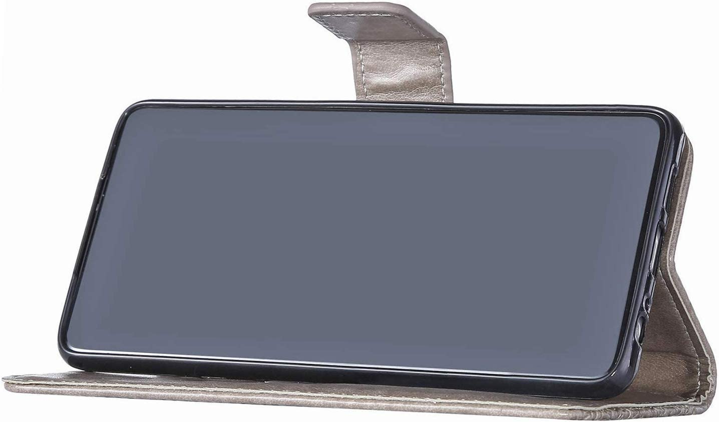 Saceebe Compatible avec Samsung Galaxy S8 Coque Cuir Portefeuille Etui Rabat Housse Protection Fleurs de Cerisier Chat Motif Flip Case Clapet Porte Cartes Fermeture Magn/étique,Rose Rouge