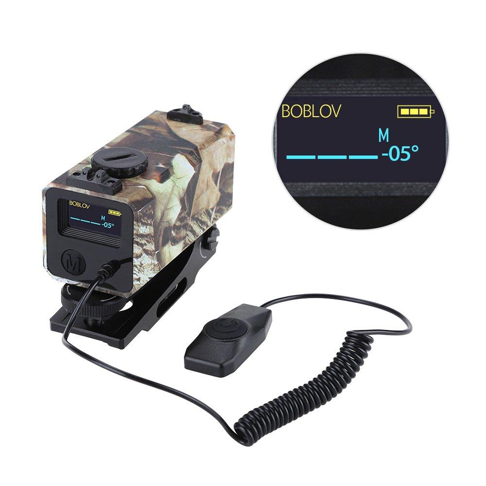 BOBLOV 700m Mini taktische Outdoor Jagd Entfernungsmesser Gewehr Anblick Anblick Anblick Paar Abstand Meter Geschwindigkeit Messinstrument Lichtschiene