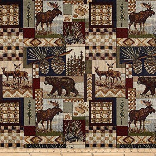 Regal Fabrics Peters Cabin Patch Jacquard, Stone