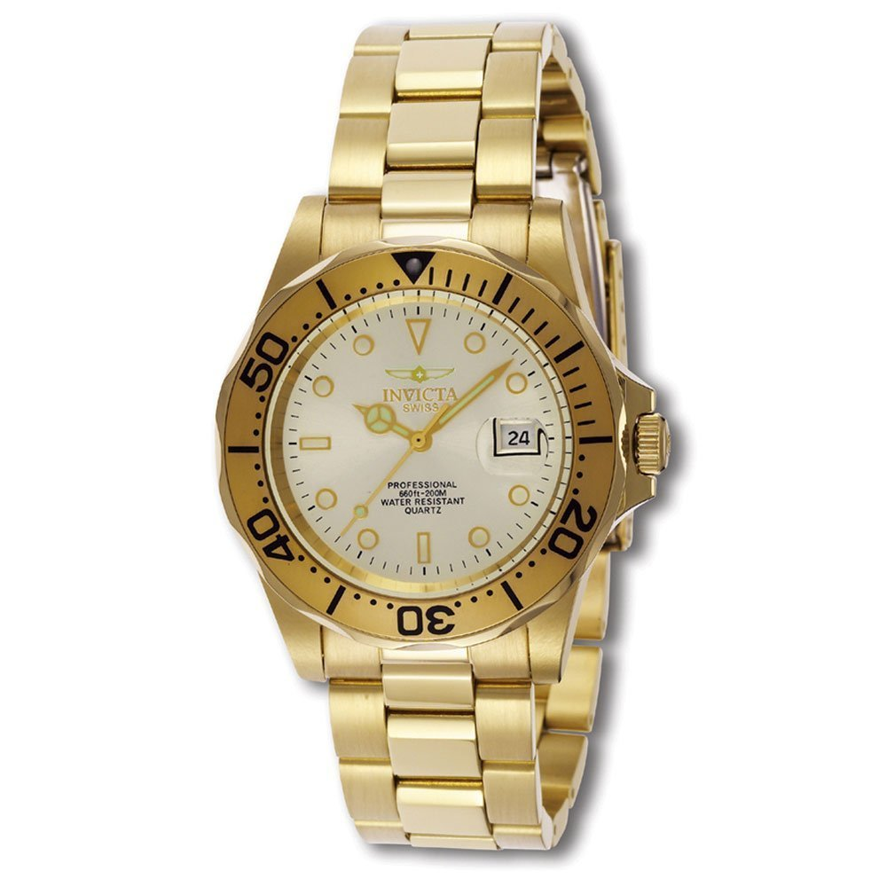 Invicta Men s 2155 Pro Diver Collection Gold-Tone Watch