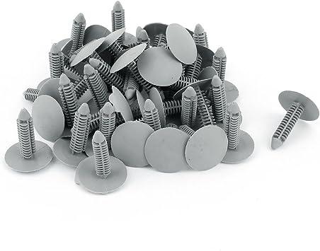 50pcs 8mm Hole Dia Plastic Rivets Fastener Fender Bumper Push Pin Clips for Car