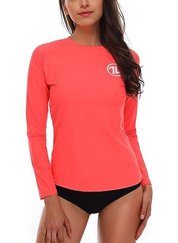 Taylover Women's Long Sleeve Rash Guard Swim Shirt Rashguard Swimwear Rash Guard by Taylover